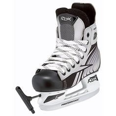 Reebok Expandable Youth Ice Hockey Skates 2012 by Reebok. $89.95. Large 12-1. Small 8-10. Medium 10-12. Sick of buying new skates every season for your kids. Will Reebok has come to the rescue with the Reebok Extendable Youth Skates. Ballistic Nylon provides amazing durability for your kids while they skate. Quick drying double density microfiber liner, helps wick away moisture with added durability. Comes in three sizes of adjustability. Enjoy the great sport of ...