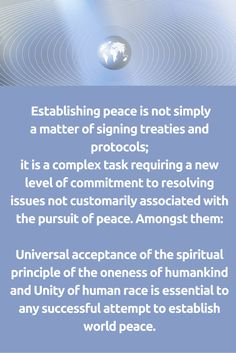 The oneness of humankind