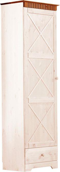 Details:  1 Tür, In 3 Farben, 1 Schubkasten, Laufleisten der Schubkästen aus Metall, 1 Ablage, Ausziebahre Kleiderstange, Aus massiver Kiefer, FSC®-zertifiziert,  Schubkasten-Innenmaße:  (B/T/H): 50/27/14 cm,  Gesamtmaße:  (B/T/H): 60/35/180 cm, Alles ca.-Maße,  Material:  FSC®-zertifiziertes Massivholz: Kiefer,  Informationen zu Lieferumfang und Montage:  Selbstmontage mit Aufbauanleitung,  ...