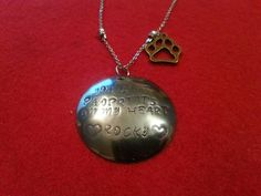 Pet Memorial Necklace.  Stainless Steel   Free by 3GEMerations