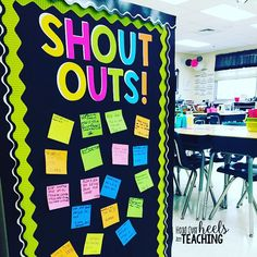 Another easy thing done off my to do list! I can't tell you how much these shout out frames help build community in our classroom this… - Decoration For Home Classroom Door Displays, Science Classroom Decorations, Classroom Bulletin Boards, School Decorations, Classroom Organization, Classroom Ideas, Classroom Management, Dollar Tree Classroom, Class Displays