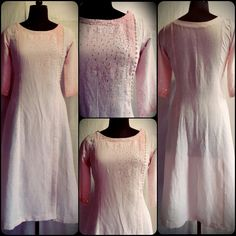 Code:03101610 - Linen Kurti With Pearl And Sequence,  Price INR:3790/-