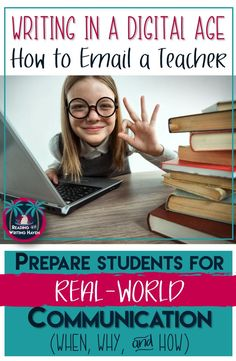 A game-changing, relevant writing lesson for all middle and high school students. Teaching email etiquette helps students with real-world communication. Writing Lessons, Teaching Writing, Student Teaching, Teaching English, Teaching Resources, Math Lessons, Teaching Ideas, Teaching Time, Kindergarten Writing