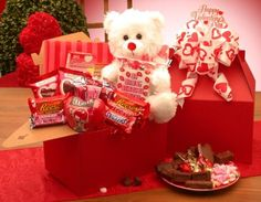 Deluxe Valentine's Day Gift Care Package GiftBasketsAssociates