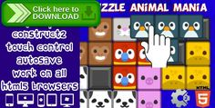 [ThemeForest]Free nulled download Puzzle Animal Mania from http://zippyfile.download/f.php?id=51932 Tags: ecommerce, android, construc2, game html5, mouse, touch