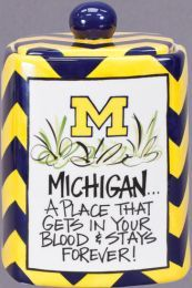Deck the kitchen with Michigan Wolverines Canister