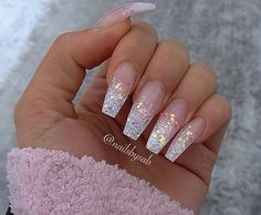 Coffin Nails You Would Like To Try This Fall Wanna try coffin nails this fall? Check out what kind of nailsart of coffin nails you like.Wanna try coffin nails this fall? Check out what kind of nailsart of coffin nails you like. Fancy Nails, Love Nails, How To Do Nails, My Nails, Pink Nails, Pink Sparkly Nails, Vegas Nails, Dream Nails, Fabulous Nails