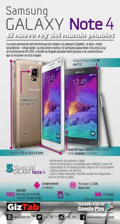 Samsung Galaxy Note 4: El nuevo Rey del Mundo Phablet Android Technology, Mobile Technology, Technology Gadgets, Tech Gadgets, Galaxy Note 4, Samsung Galaxy S, Galaxy Smartphone, Iphone Price, Android Hacks