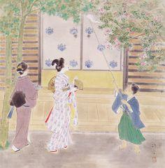 鏑木清方 KABURAKI Kiyotaka - '夏の武家屋敷'(1957年 ヤマタネ)