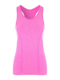Make a colourful addition to your workout wardrobe with this women's pink seamfree vest. Featuring a scoop neck, racer back and flexible fit, this vest is th...