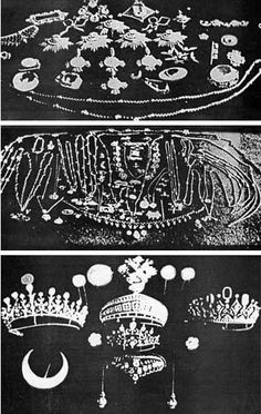 ohsoromanov:    List of Imperial Jewels found hidden in 1933 in Tobolsk.
