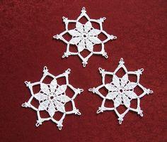 Weihnachtsdeko - Schneeflocken Häkelsterne Weihnachtsdeko - ein Designerstück…