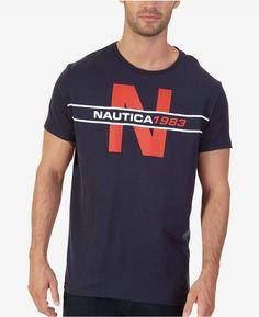 0167bd1c Nautica Men's Big & Tall 1983 Heritage Graphic-Print T-Shirt & Reviews - T- Shirts - Men - Macy's