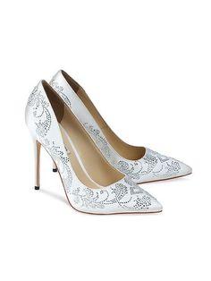 170db76f8213 White bridal heels - SASKIA IVORY SILK 4