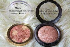 Milani Illuminating FACE Powder and MAC MSF Soft and Gentle | makeup dupes, drugstore makeup, mac makeup