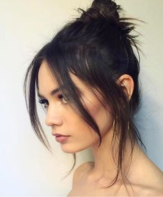 36 simple and sweet hairstyles for medium-length hair - Hair Styles Sweet Hairstyles, Cute Hairstyles For Medium Hair, Cute Simple Hairstyles, Medium Hair Styles, Curly Hair Styles, Long Fringe Hairstyles, Hair Medium, Model Hairstyles, Wedding Hairstyles