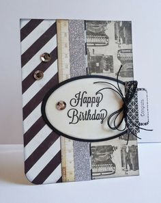 Because it's fun to create...: Some handmade black & white cards