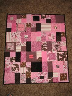 Custom Order Western Cowgirl Quilt on Etsy. Love this pattern for coordinating prints. In pink/brown/white.