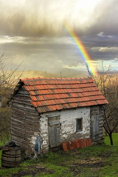 Rainy day with rainbow. Out of season rates N/A, organic intimacy. Content by Wendy Kathleen Rogers