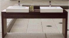 WetStyle WET Furniture Set Wood Stone, White Lead, Bath Vanities, Wood Veneer, Display Ideas, Double Vanity, Decks, Furniture Sets, Boats