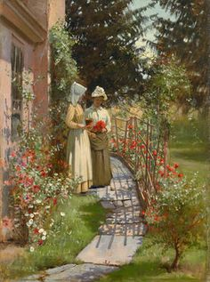 William S. Horton Gathering Posies, 1890s (Oil on canvas, 24 x 20 inches) Spanierman Gallery, NYC
