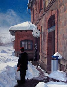 Arte y Ferrocarril: Javier Marcos y su pintura del quehacer ferroviario
