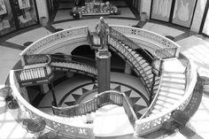 Cool staircase in a rundown mall.  I love the shape. #day18 #30DaysOfCreativity @createstuff