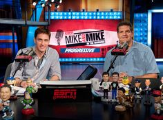 Most weekday mornings begin with watching these guys, especially during football season. Mike And Mike, Football Season, Espn, Guys, Mornings, Random Stuff, Sports, Random Things, Hs Sports