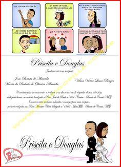 Convite de casamento criativo em forma de tirinha!
