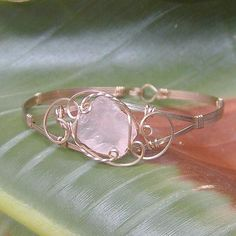Pink Sea Glass Wire-Sculpted Bracelet by wiregems, via Flickr #seaglassrings