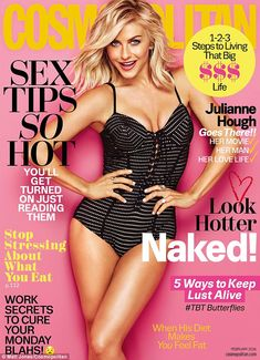 Julianne Hough Has Phone Sex with Fiance Brooks Laich: 'I'm Really Bad At It!': Photo Julianne Hough shows off her sparkly engagement ring on the February 2016 cover of Cosmopolitan mag. Here's what the Grease Live actress had to share: On… V Magazine, Magazine Covers, Vanity Fair, Grease, Julianne Hough Hot, Magazine Cosmopolitan, Instyle Magazine, Brooks Laich, Get Turned On