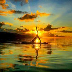 yoga三昧~naomiのインド女一人旅~ SUP YOGA はじめました #yoga #ヨガ