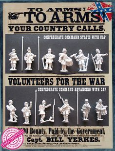 The main goal of our project is to help us create a full range of 28mm Union and Confederate miniatures in Frock Coats