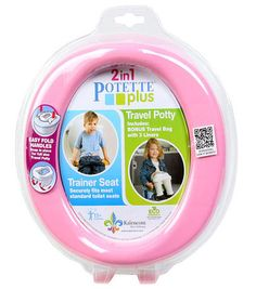 Potette Plus 2-in-1 On-The-Go Travel Potty & Trainer Seat - Pink