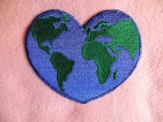 Earth Love Iron on Patch