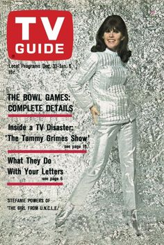"TV Guide: December 31, 1966 - Stefanie Powers of ""The Girl From U.N.C.L.E."""