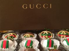 Gucci chocolate covered strawberries