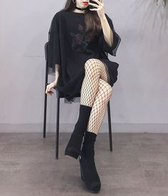 Korean Daily Fashion - picture for you Grunge Outfits, Edgy Outfits, Mode Outfits, Korean Outfits, Grunge Fashion, Fashion Outfits, Fashion Ideas, Korean Fashion Trends, Korean Street Fashion