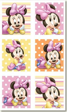 Minnie Mouse 1st Birthday Stickers 4pk