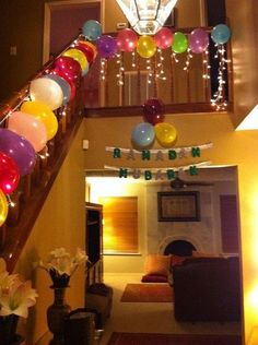 30 balloons for the 30 days of Ramadan. Pick the candy and filled each balloon, and after Iftar every night, pop a balloon and get to enjoy a special treat! Pick the best candy for the 10 balloons on top--for the last 10 days of Ramadan! Eid Crafts, Ramadan Crafts, Ramadan Decorations, Balloon Decorations, Birthday Party Decorations, Birthday Streamers, Iftar, Eid Ramadan, Ramadan Mubarak