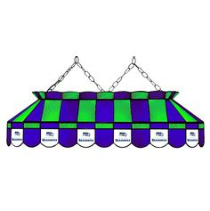 Seattle Seahawks 40 Inch Rectangular Stained Glass Lamp
