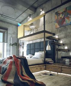 Schlafzimmer industrial einrichten!