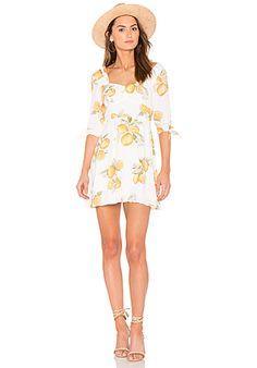 For Love & Lemons Limonada Mini Dress in Lemon   REVOLVE