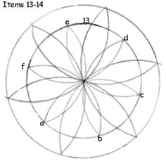 Instructions for making a radial design using a compass