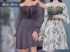 Sims 4 Mods Clothes, Sims 4 Clothing, Sims Mods, Female Clothing, Sims 4 Cc Packs, Sims 4 Mm Cc, Maxis, Sims 4 Dresses, Sims 4 Outfits