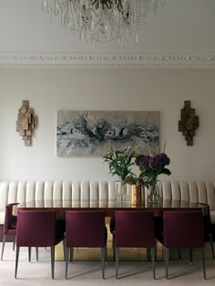 Notting Hill dining room with Paul Evans table