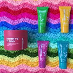 MUMMY'S TUMMY + OB DESIGNS RIPPLE BLANKET (RAINBOW) + LITTLE INNOSCENTS TRAVEL PACK  from 149.00 Give something both mum and bub will enjoy!  For mum – Skin Juice Mummy's Tummy Stretch Mark Cream  Made with organic rosehip, mandarin, Australian Kakadu plum, and organic shea butter, this indulgent cream helps nourish and protect stretching skin. Massage this buttery goodness into the skin for prevention of stretch marks and for some bonding time with baby while inside the tummy.