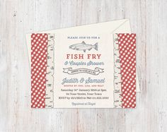 Instant Download Fish Fry Invitations Editable Pdf DIY 4x6
