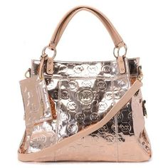 Michael Kors Top Satchel Golden Patent Leather