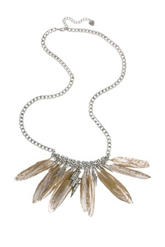 Gold Feather Rhinestone Necklace by Betsey Johnson Jewelry & Watches on @HauteLook